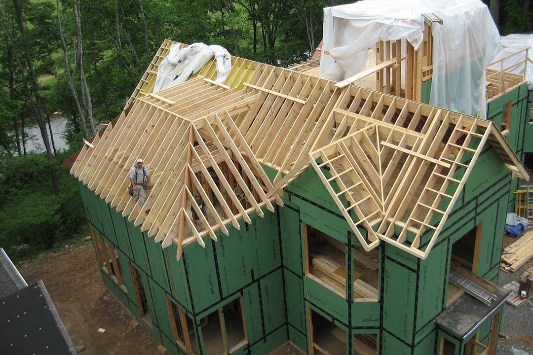 Форма крыши каркасного дома